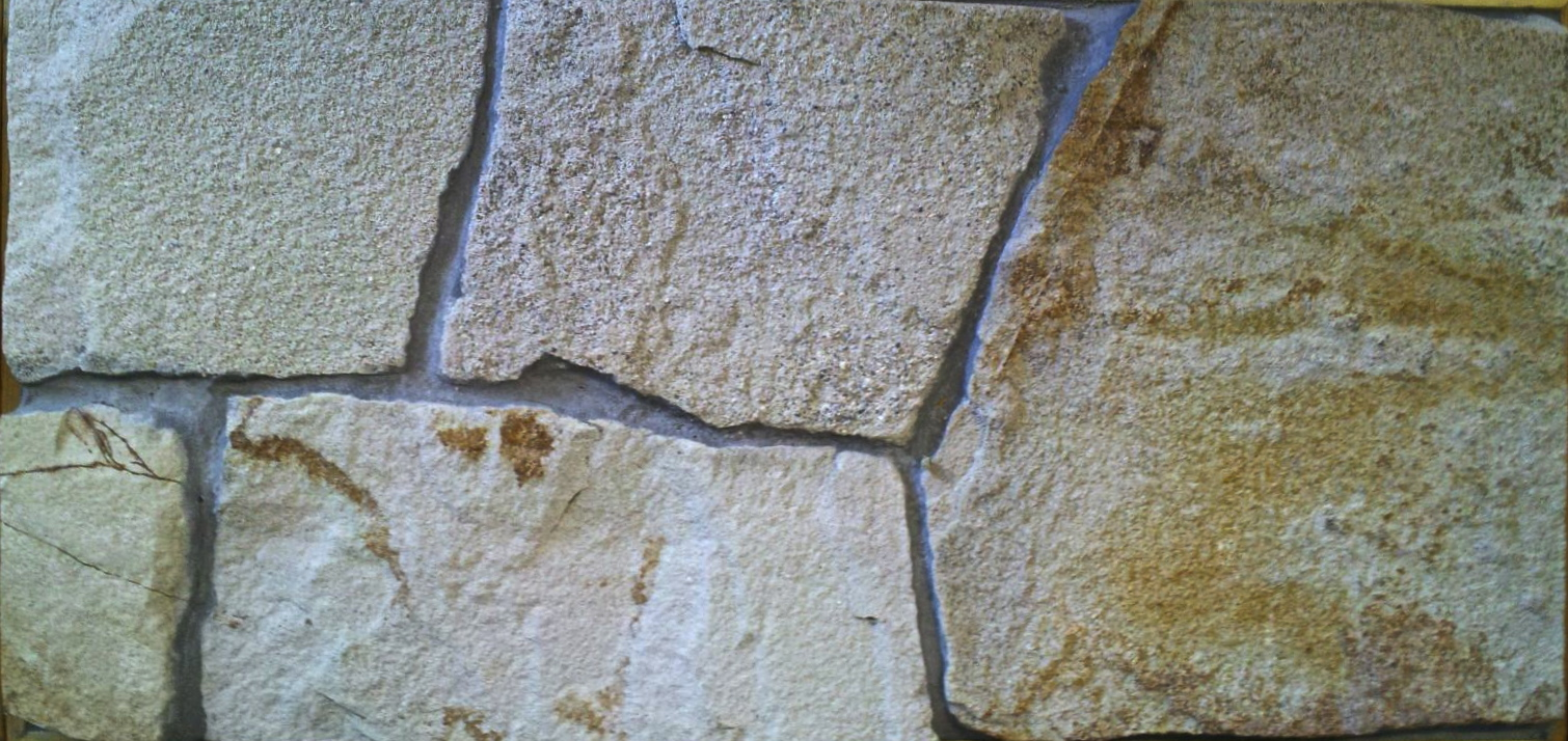 Rock wall flat veneer-desert bloom