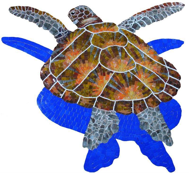 Glass Turtle Mosaic