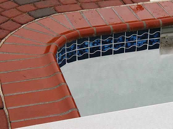 Red Bullnose Brick Coping