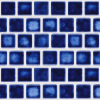 National Pool Tile - Mini Koyn Marbleized Royal Blue 1x1