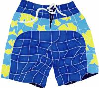 Artistry in Mosaics - Board Shorts Mosaic-blue