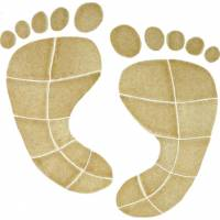 Artistry in Mosaics - Footprints Mosaic-tan (lg)