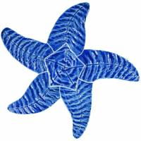 Artistry in Mosaics - Starfish blue