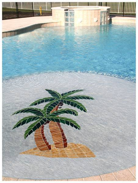 Twin Palm custom pool mosaic