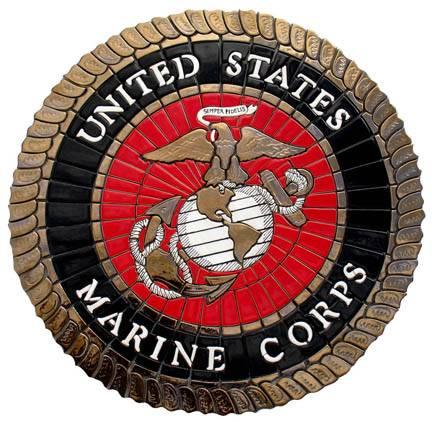 Marine Corps custom mosaic design