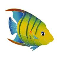 Pool Mosaics - Tropical Fish Mosaics - Artistry in Mosaics - Banded Angel Fish right