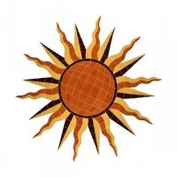 Pool Mosaics - Medallion Mosaics - Artistry in Mosaics - Sun Medallion Mosaic-Brown