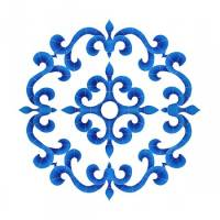 Pool Mosaics - Medallion Mosaics - Artistry in Mosaics - Tuscan Medallion Mosaic-Blue