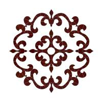 Pool Mosaics - Medallion Mosaics - Artistry in Mosaics - Tuscan Medallion Mosaic-Brown