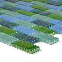 "Artistry in Mosaics - Blue Green Blend 1""x2"" - Image 2"