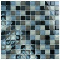 """Black Charcoal Gray Taupe Blend 1""""x1"""" - Image 2"""
