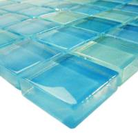 "Artistry in Mosaics - Turquoise Blue Blend 1""x1"" - Image 2"