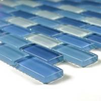 "Artistry in Mosaics - Turqoiuse Cobalt Blue Blend 1""x2"" - Image 2"