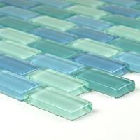 "Artistry in Mosaics - Turquoise Blue Blend 1""x2"" - Image 2"