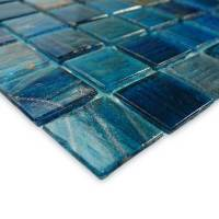 "Artistry in Mosaics - Blue Copper Blend .75""x.75"" - Image 2"