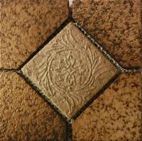 "Pool Tile - Trim,Accents&Mosaic Patterns - Fujiwa Tile - Alco-504 Nature Brick Deco 6""x6"""