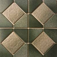 "Fujiwa Tile - Alco-501 Nature Green Deco 6""x6"" - Image 2"