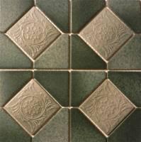 "Fujiwa Tile - Alco-501 Nature Green Deco 6""x6"" - Image 2"