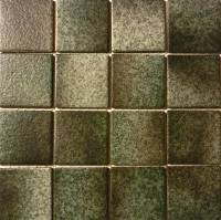"Pool Tile - 3""x3"" Pool Tiles - Fujiwa Tile - Alex-503 Nature Moss Green 3""x3"""