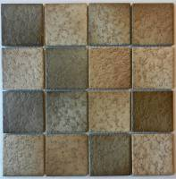 "Pool Tile - 3""x3"" Pool Tiles - Fujiwa Tile - Lark-113 Brown Blend 3""x3"""