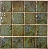 "Pool Tile - 3""x3"" Pool Tiles - Fujiwa Tile - Joya-301 Verde 3""x3"""