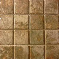 "Pool Tile - 3""x3"" Pool Tiles - Fujiwa Tile - Joya-303 Gold 3""x3"""