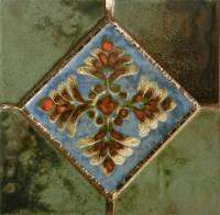 """Wall Tile - Porcelain Mosaics - Fujiwa Tile - Joya-501 Verde 6""""x6"""" Deco"""