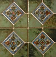 """Fujiwa Tile - Joya-501 Verde 6""""x6"""" Deco - Image 2"""