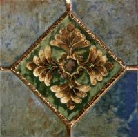 "Pool Tile - Trim,Accents&Mosaic Patterns - Fujiwa Tile - Joya-502 Albi 6""x6"" Deco"