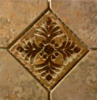 "Pool Tile - Trim,Accents&Mosaic Patterns - Fujiwa Tile - Joya-503 Gold 6""x6"" Deco"