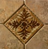 """Wall Tile - Porcelain Mosaics - Fujiwa Tile - Joya-503 Gold 6""""x6"""" Deco"""