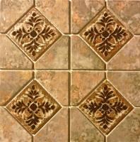 "Fujiwa Tile - Joya-503 Gold 6""x6"" Deco - Image 2"