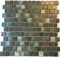 "Fujiwa Tile - Pad-133 Moss Green 1""x1"" Trim Tile"