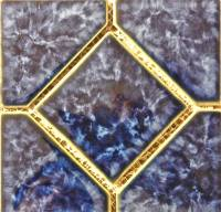 "Fujiwa Tile - Titan-662 Sapphire 6""x6"" Deco - Image 1"