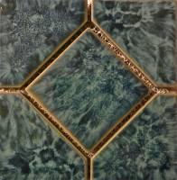 "Fujiwa Tile - Titan-663 Aquamarine 6""x6"" Deco - Image 1"
