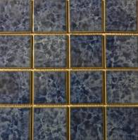 "Pool Tile - 3""x3"" Pool Tiles - Fujiwa Tile - Titan-331 Crystal Blue 3""x3"""