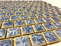 "Fujiwa Tile - Tnt-031 Crystal Blue 1""x1"" - Image 2"