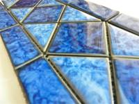"Fujiwa Tile - Tilis-462 Sapphire 6""x12"" Border Pattern - Image 1"