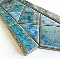 "Fujiwa Tile - Tilis-463  Aquamarine 6""x12"" Border Pattern"