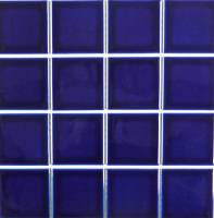 "Pool Tile - 3""x3"" Pool Tiles - Fujiwa Tile - Vip-713 Cobalt Blue 3""x3"""