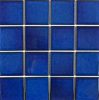 "Pool Tile - 3""x3"" Pool Tiles - Fujiwa Tile - Vip-791 Royal Blue 3""x3"""