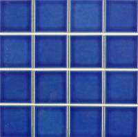 "Pool Tile - 3""x3"" Pool Tiles - Fujiwa Tile - Vips-913 Electric Blue 3""x3"""