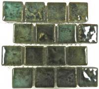 "Fujiwa Tile - Joya-101 Verde 1""x1"" Trim Tile"