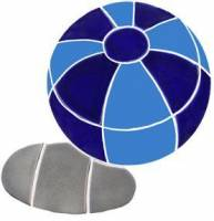 Pool Mosaics - Shadowed Mosaics - Artistry in Mosaics - Beach Ball Blue with shadow