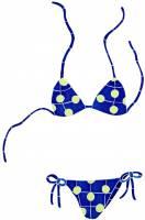 Pool Mosaics - Boardshorts, Bikini & Flip Flop Mosaics - Artistry in Mosaics - Bikini Mosaic-Blue