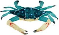 Artistry in Mosaics - Blue Swimmer Crab Mosaic