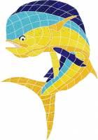 Pool Mosaics - Dolphin Mosaics - Artistry in Mosaics - Bull Dolphin