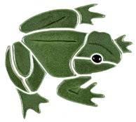 Pool Mosaics - Garden & Pond Mosaics - Artistry in Mosaics - Bull Frog Mosaic