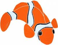 Pool Mosaics - Tropical Fish Mosaics - Artistry in Mosaics - Clown Fish right Mosaic