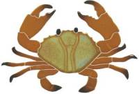 "Artistry in Mosaics - Crab Mosaic, 8"" brown"